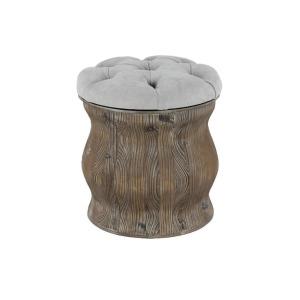 Wood Fabric Stool