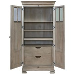 Tall Cabinet - Silo with a white background