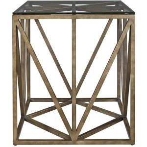 Curated Truss Square End Table