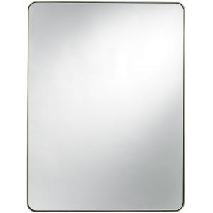 Modern Accent Mirror - Brushed Brass