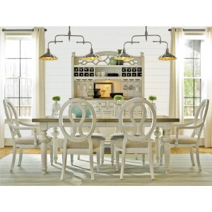 Summer Hill Dining Set w/ Pierced Back Chairs