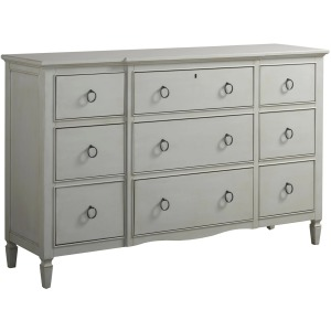 Summer Hill 9 Drawer Dresser - French Gray