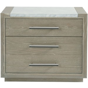Zephyr Nightstand with Stone Top