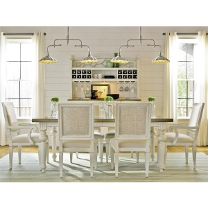 Summer Hill Dining Set w/ Woven Accent Chairs