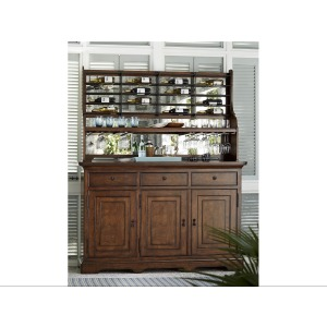 Dogwood Credenza with Wine-On-The-Wall Rack