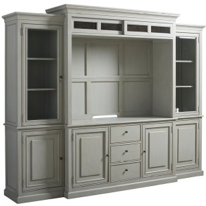 Summer Hill Entertainment Console w/Hutch - French Gray