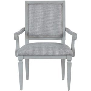 Summer Hill - French Gray Woven Accent Arm Chair