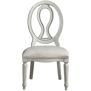 Summer Hill - French Gray Pierced Back Side Chair