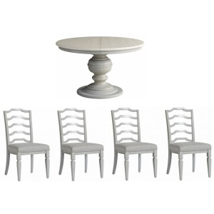 Summer Hill 5 PC Round Dining Set - French Gray