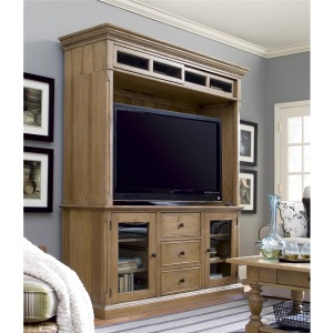 Down Home  Entertainment Console with Hutch