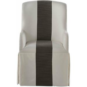 Modern Slip Cover Caster Arm Chair
