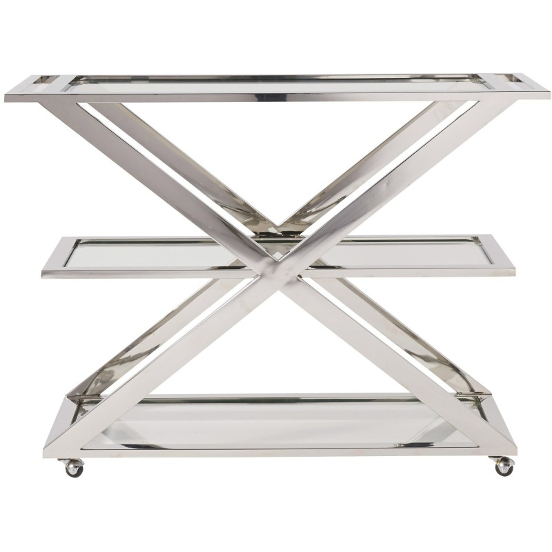Draper Bar Cart - Silo with a white background