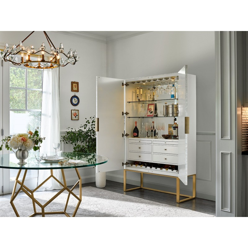Opaline Bar Cabinet - Multiple item room scene