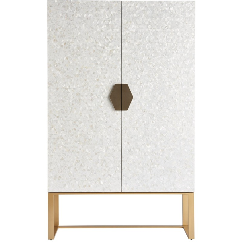 Opaline Bar Cabinet - Silo with a white background