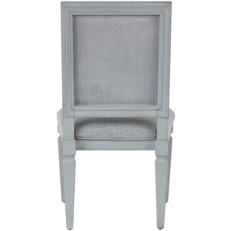 Woven Accent Side Chair - Silo with a white background