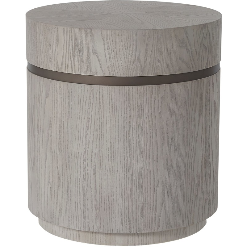 Round End Table - Silo with a white background