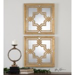 Piazzale Mirrored Wall Squares S/2