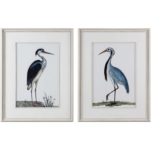 Shore Birds Framed Prints - Set of 2