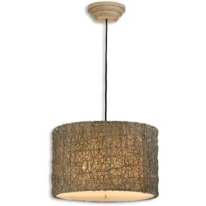 Knotted Rattan 3 Light Pendant