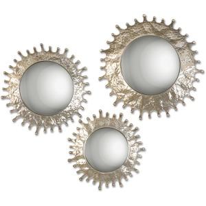 Rain Splash Round Mirrors - Set of 3