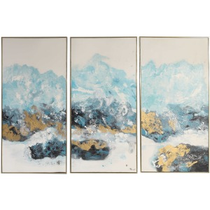 Crashing waves Hand Painted Canvases, Set of 3