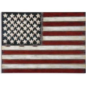 American Flag Metal Wall Decor