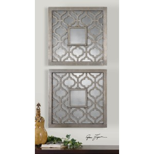 Sorbolo Mirrored Wall Decor S/2