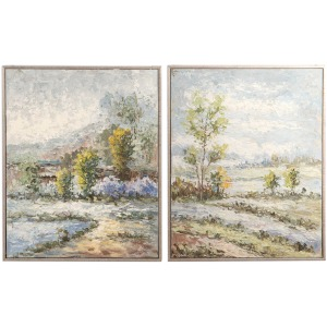 Wayward Rivers Hand Painted Canvases S/2