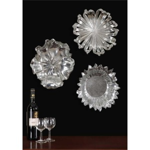 Silver Flowers Wall Decor