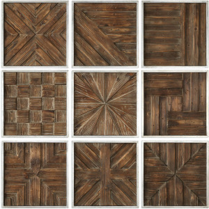 Bryndle Squares Wood Wall Decor, S/9