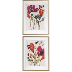 Vivid Arrangement Framed Prints S/2