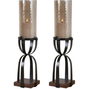 Arka Candleholders, Set of 2