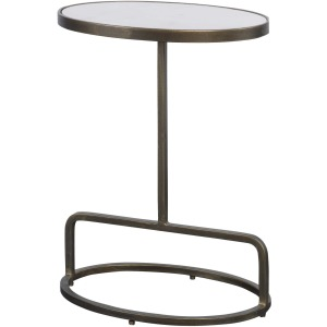 Jessenia Marble Accent Table