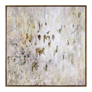 Golden Raindrops Hand Painted Canvas
