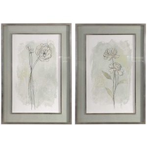 Stone Flower Study Framer Prints S/2