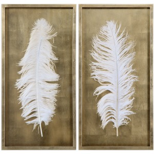 White Feathers Shadow Box S/2