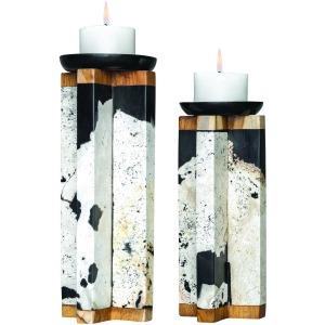 Illini Candleholders, S/2