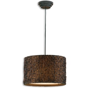 Knotted Rattan Hanging Shade