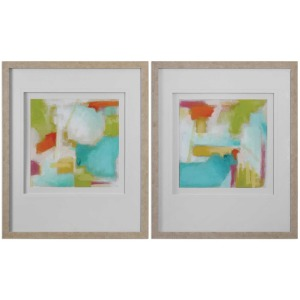 Color Space Framed Prints, S/2