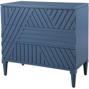Colby Blue 3 Drawer Chest
