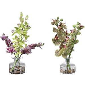 Malin Orchid Bud Vases. S/2