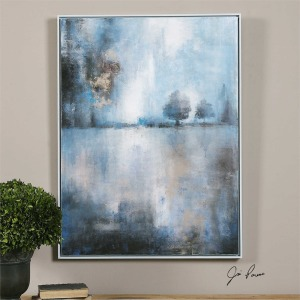 Lake At Dusk Hand Painted Canvas