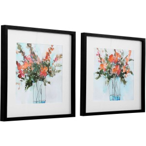 Fresh Flowers Framed Prints, S/2