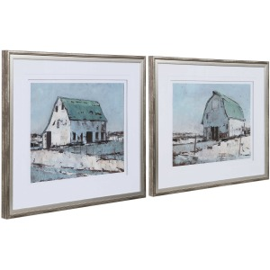 Plein Air Brans Framed Prints, S/2