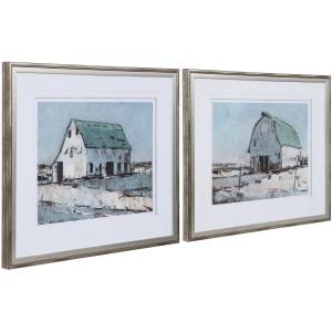 Plein Air Brans Framed Prints, S/2
