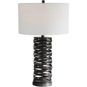 Alita Rust Black Table Lamp