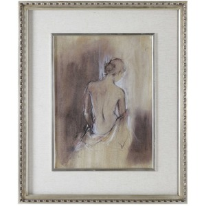 Contempory Draped Figure Framed Print