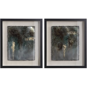 Rustic Patina Framed Prints, Set of 2