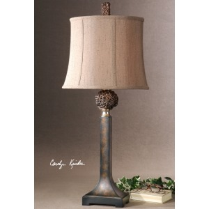Knotted Rattan Buffet Lamp