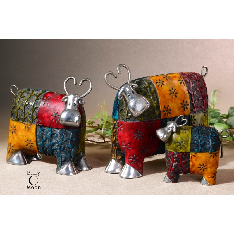 Colorful Cows, Accessories, S/3